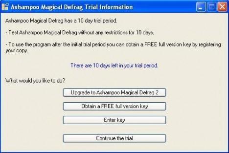 Obtain Free Registration Code of Ashampoo Magical Defrag