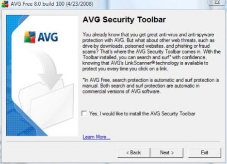 Disable AVG Security Toolbar from Installation