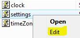 Edit Clock Settings