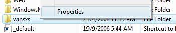 Open Folder Properties