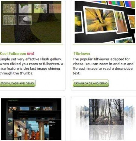 Free Picasa Flash and HTML Templates for Photo Gallery and Slide