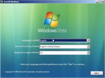 Windows Vista Recovery Environment