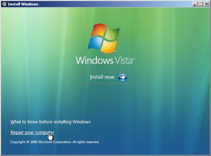 Windows Vista Recovery Console