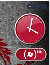 PRODUCT (RED) Windows Sidebar Gadgets