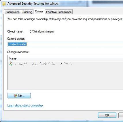 Take Onwership of Files and Folders in Windows Vista