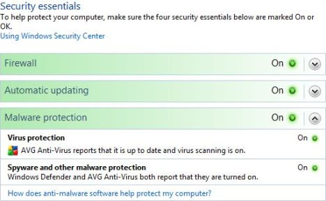 Security Center Malware Protection