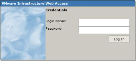 VMWare Server 2.0 Login Screen