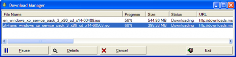 Downloading Windows XP SP3 from MSDN