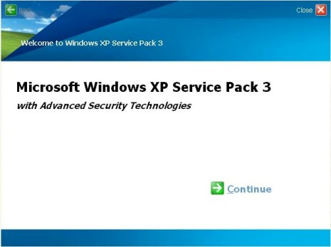 Windows XP SP3 Setup Install
