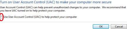 Turn Off and Disable User Account Control in Vista