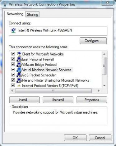 Enable Virtual Machine Network Services