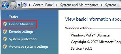 Cannot Open Device Manager from Tasks List