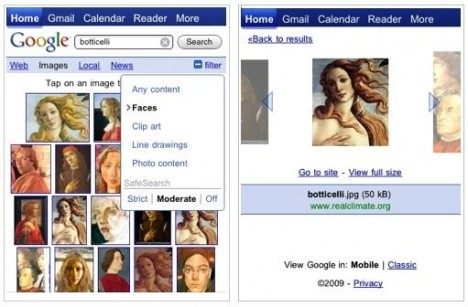how to use google image search by phone