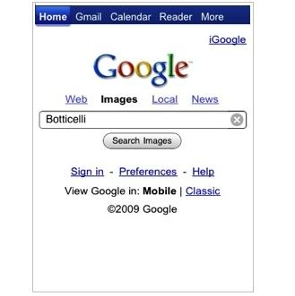 how to use google image search on iphone