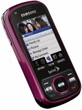 Samsung Exclaim M550 raspberry