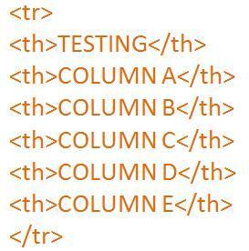 table column