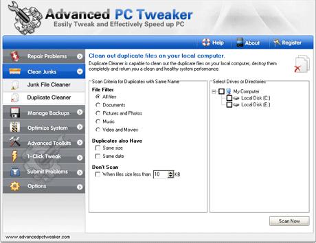 advanced-pc-tweaker-duplicate-cleaner
