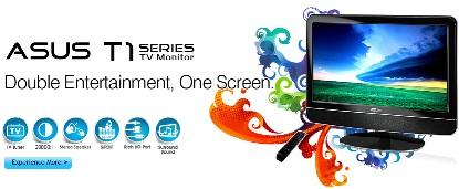Asus T1 Series Dual LCD Monitor
