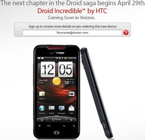 HTC Incredible To Hit Verizon Wireless Stores Starting ...