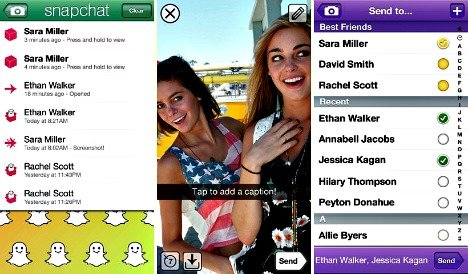 real time picture chatting for iphone and android www snapchat com