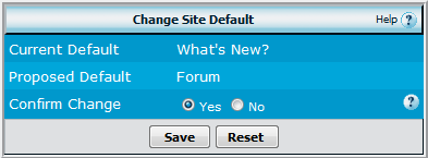 Set Forum as Default
