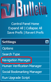 vBulletin Navigation Manager