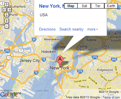 Google Maps embedded with info bubble