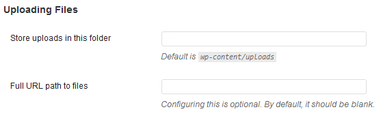 WordPress Uploads Path and URL