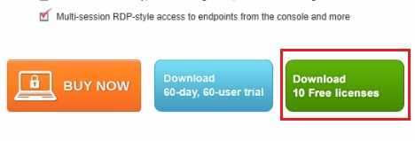 Comodo Endpoint Security Manager promotional page