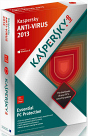 Kapersky Antivirus 2013 box