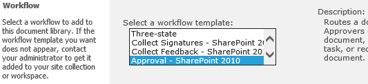 How to enable built in out of box workflow template in sharepoint sharepoint workflow templates pronofoot35fo Images