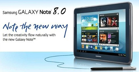 Samsung Galaxy Note 8.0 With TouchWiz Android skin