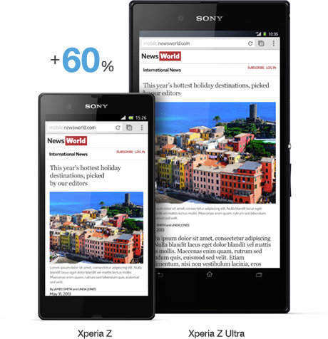 Sony Xperia Z Ultra Android 4.2 Phone Ultra-Slim with 6.4'' Full HD Display Review