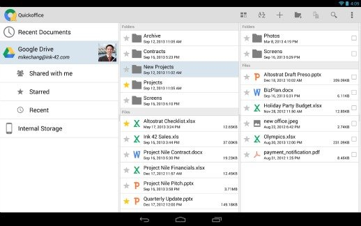 Google Quickoffice free Download For Android and iOS and Grab 10GB of Google Drive storage