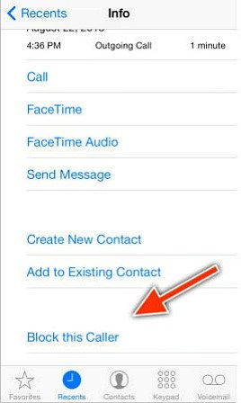 How To Block Unwanted Phone Call From Contacting On iOS 7