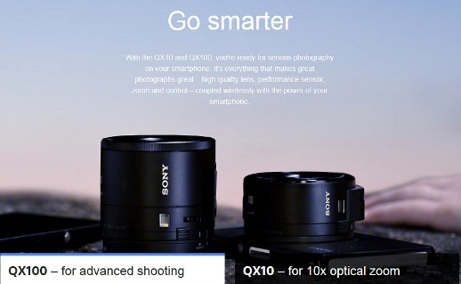 Sony QX100 and QX10 Smart Lenses That Turn Phones Into True Cameras