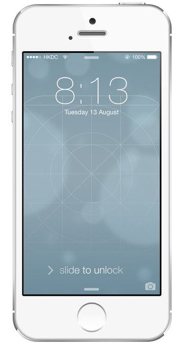 iOS Grid Wallpaper by Kal Michael