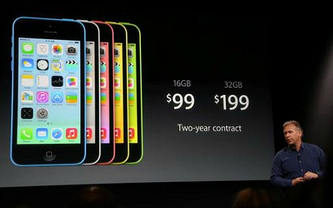iPhone 5c  $100 on Contract