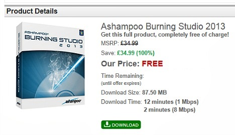 Ashampoo Burning Studio 2013 Free Download