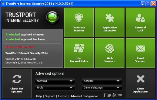 TrustPort Internet Security 2014 Free License Key Download