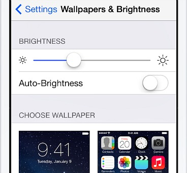 Turn off Auto-brightness