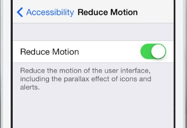 turn off parallax motion