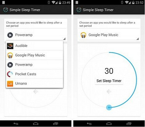 Super Simple Sleep Timer For Android Smartphone Turn Off Music When You Fall Asleep