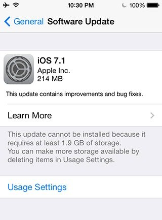 iOS 7.1 for iPhone, iPod touch and iPad Released for Download