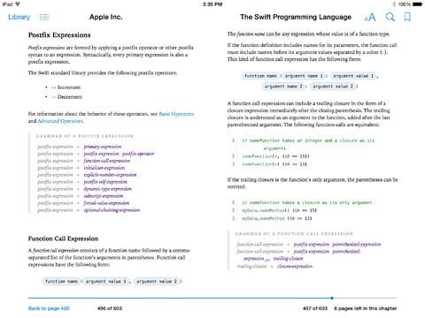 Programming book swift language