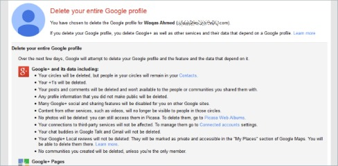 Delete Or Remove Google+ From Your Google Account
