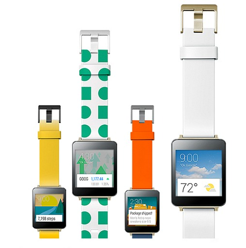 LG G Watch and Samsung Gear Live Smartwatch with Android Wear Operating System
