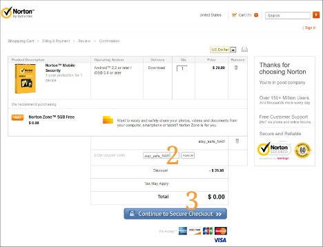 Norton Mobile Security Free Download with 1 Year Genuine License Key