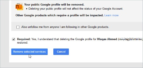Remove Google+ From Your Google Account