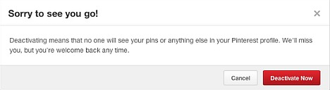 How To Completely Deactivate Pinterest Account